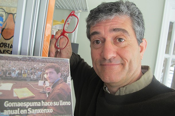 Guillermo Fesser, then and now. His memoir, One Hundred Miles from Manhattan, has just been published in English.