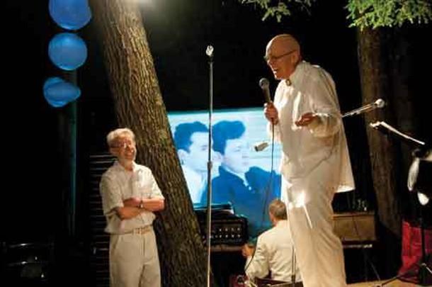 Gustavo Sanin (L) and Ivan Velilla (R) at their 50th anniversary/wedding celebration in Phoenicia on Saturday, July 16.