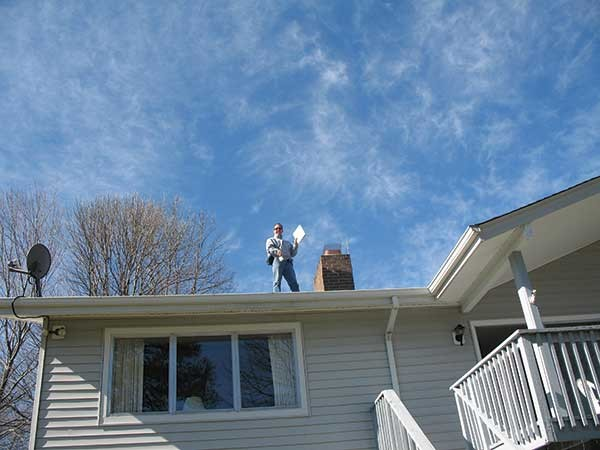 Hank Pauli of Apple Valley Home Inspections on the job. - IMAGE PROVIDED
