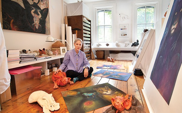 Harrison in her second-floor studio.