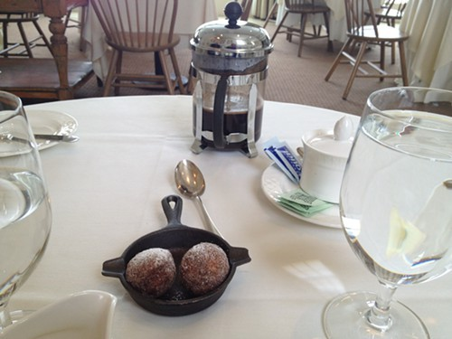 House-made donuts and strong coffee