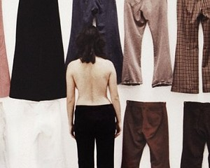 """Ilene Segalove, Detail of """"All of My Pants Except The Ones I was Wearing - Backs,"""" 1974. Photograph by Jessica Eckert, Image Courtesy of Andrea Rosen Gallery, New York"""