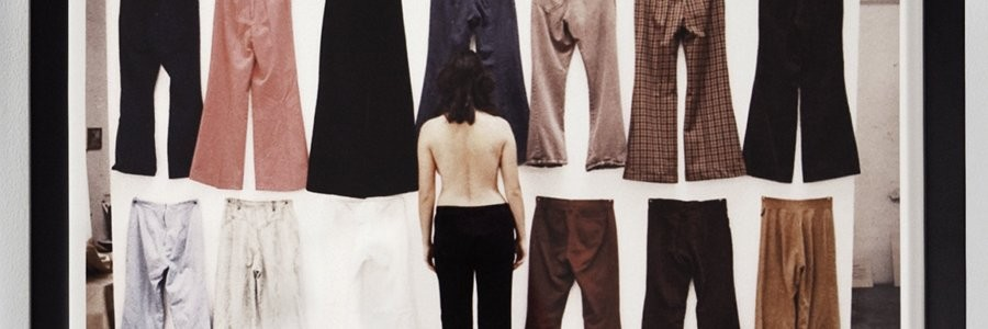 "Ilene Segalove, Detail of ""All of My Pants Except The Ones I was Wearing - Backs,"" 1974. Photograph by Jessica Eckert, Image Courtesy of Andrea Rosen Gallery, New York"
