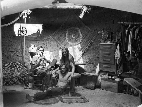 """""""In Rick and Ceil's Hogan,"""" Placitas, 1969, Roberta Price."""