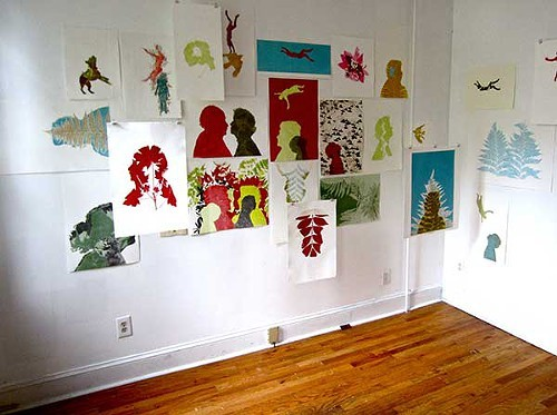 Installation View of Suzanne Stokes Kindred Spirits.