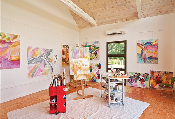 Interior of Roth's studio. - DEBORAH DEGRAFFENREID