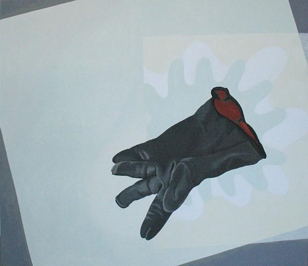 """Jack's Glove (Left)"", Joy Taylor, acrylic on linen, 22 x 24 inches"