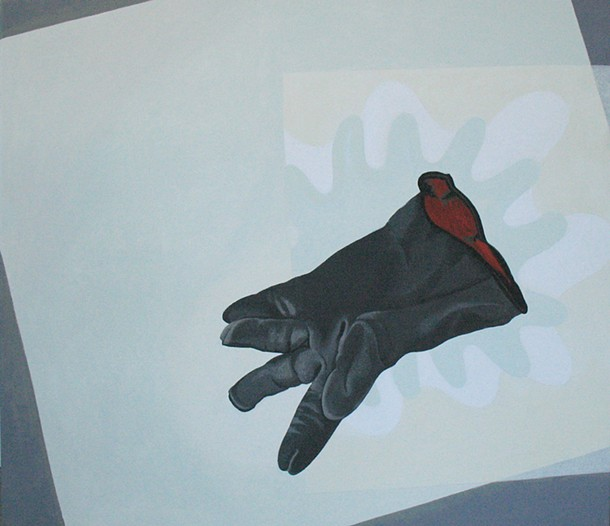 """Jack's Glove (Left)"", Joy Taylor, acrylic on linen, 22 x 24 inches"