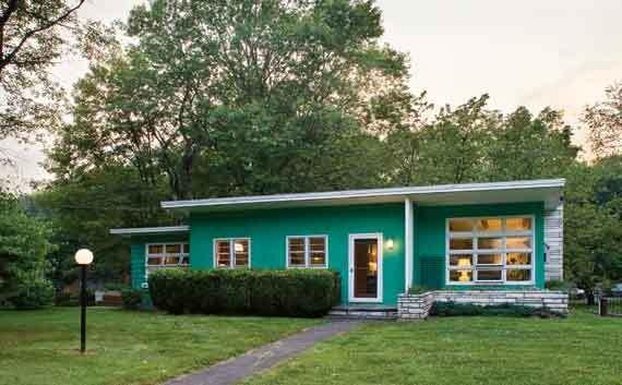Jeff Blum's two-bedroom ranch in Saugerties. - DEBORAH DEGRAFFENREID