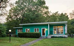 Jeff Blum's two-bedroom ranch in Saugerties. - DEBORAH DEGRAFFENREID