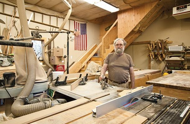 Jerry Vis in his home workshop. - DEBORAH DEGRAFFENREID