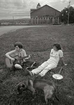 Johanna Warren and Sasha Pearl - on the riverfront in Hudson. - FIONN REILLY