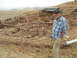 John Anthony West at Goebekli Tepe in Turkey.