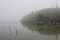 Jordan Pond shrouded in mist, Acadia National Park. - AMANDA PAINTER