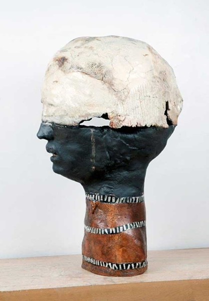 "Judy Sigunick's sculpture ""Ariel"" featured in ""Group Show #5: Mostly 3D"" at Wired Gallery in High Falls."