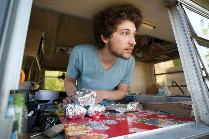 Kazio Sosnowski inside Bubby's Burrito Stand. - ROY GUMPEL
