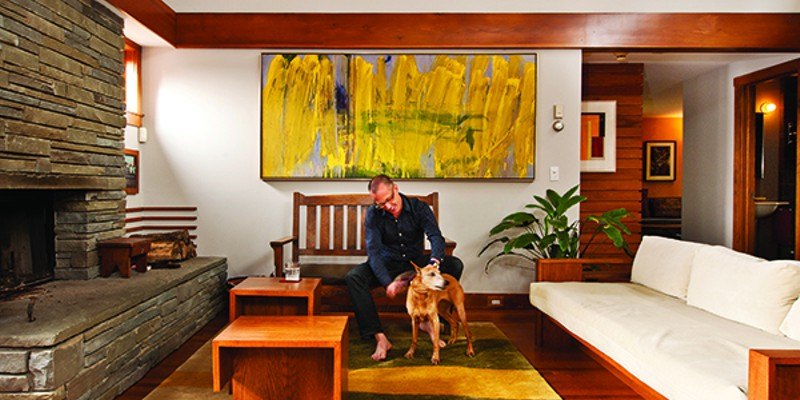 Recipe for Living Keith and Ruby in the living room. The painting, Sunflowers, is by Francis Tint. Deborah DeGraffenreid