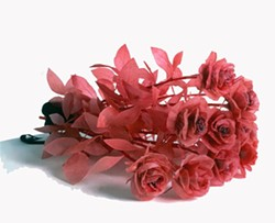 Keith Edmeir, A Dozen Roses, 1998, Cast resins, satin ribbon