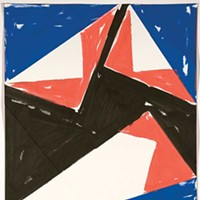"Bent Ken Gray, Flag 2, poster paint on 2-play bristol, 12"" X 9""."