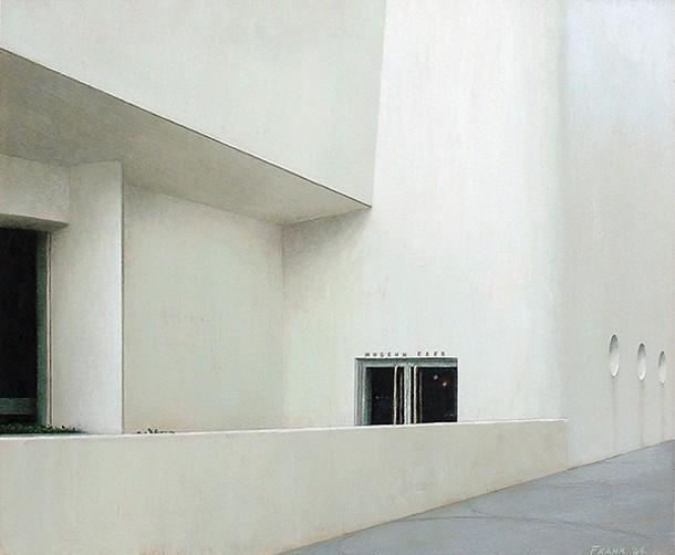 """Kevin Frank, Museum Café, encaustic on panel, 20"""" x 24"""", 2004."""