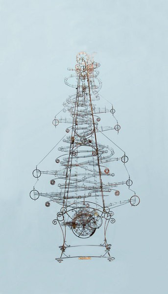 Larry Lawrence, Ching Tree, steel with glass marbles, 2006