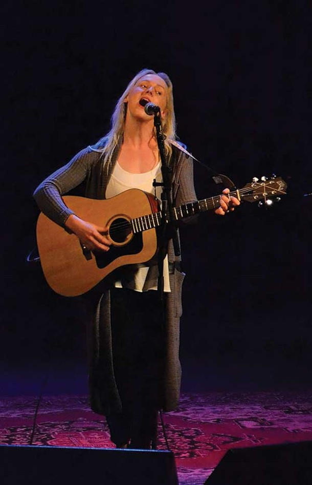 Laura Marling perfroming at the Bearsville Theater on 9/6.