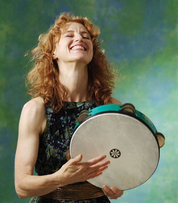 Layne Redmond plays at the Kleinert/James Arts Center in Woodstock on May 8.