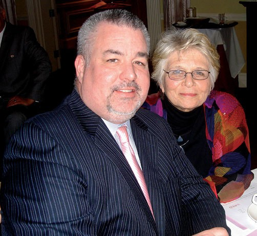 LGBTQ Center President Ginny Apuzzo and Assemblyman Daniel J. O'Donnell at the Center gala in Poughkkepsie on March 7.
