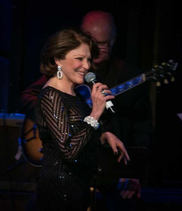 Linda Lavin performing at Club Helsinki on February 10.
