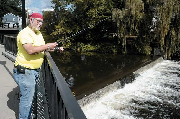 Lonnie Conners fishing the Wappingers Creek - DAVID MORRIS CUNNINGHAM