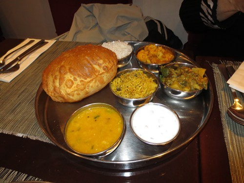 Lunch Thali at Pongal Restaurant NYC