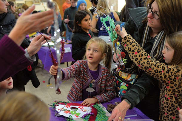 Making decorations for the town-wide Sinterklaas celebration in Rhinebeck. - DOUG BAZ