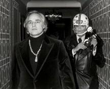 """Marlon Brando and Ron Galella in Leon Gast's """"Smash His Camera."""""""