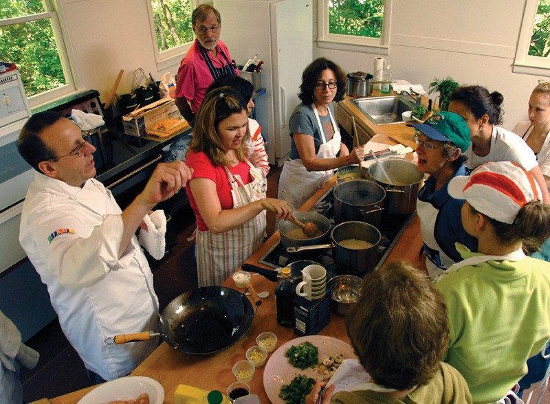 "Master Chef Thomas W. Griffiths teaching at Omega. Griffiths will teach ""Omega Thanksgiving: Creating a Delicious and Meaningful Celebration,"" Oct. 22-24."