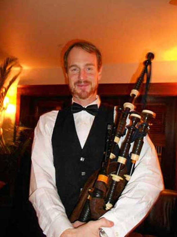 Master Piper Jeremy Freeman at Robbie Burns Night hosted by the Rhinecliff Hotel on January 31.