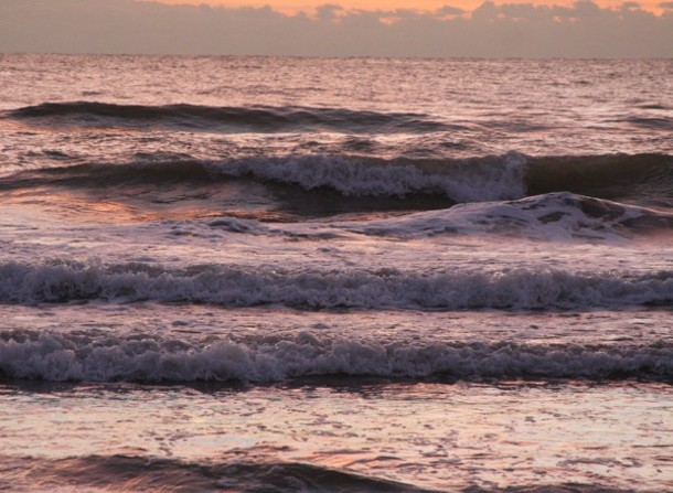 Mediterranean Sea at daybreak, Valencia, Spain.