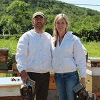 Hudson Valley Bee Supply Megan Denver, Jorik Phillips, and their bees Peter Barrett