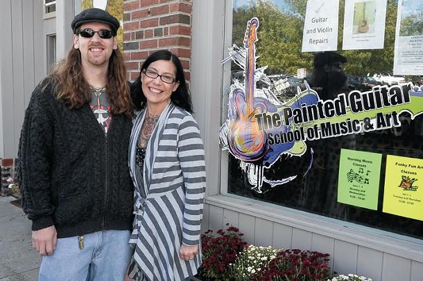 Mike and Nina Kilroe at The Painted Guitar School of Music & Art. - ROY GUMPEL