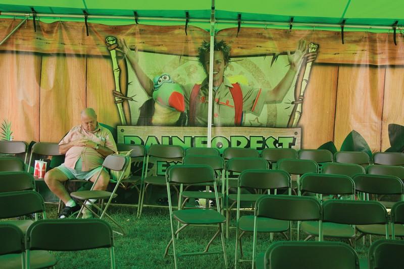 Monica d. Church, Man Sleeping, Dutchess County Fair, Rhinebeck, NY, August 2010