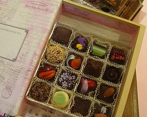 """Mothers Day """"Faux Book"""" full of exquisite chocolates by Oliver Kita"""