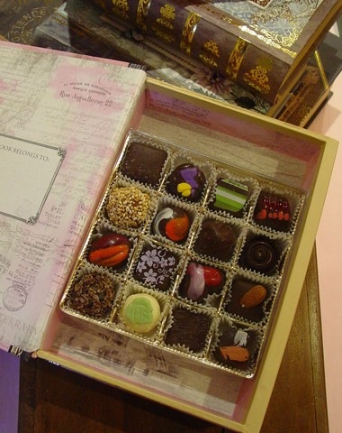 Mothers Day Faux Book full of exquisite chocolates by Oliver Kita
