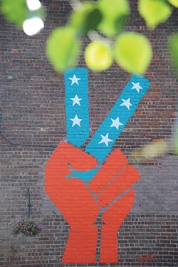 Mural on Church Street in New Paltz.