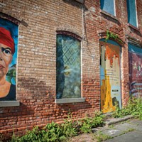 Newburgh Murals on a building on Washington Street near Liberty street. Anne Cecille Meadows