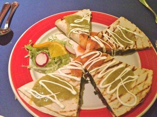 Mushroom Spinach Quesadilla at Gabys Cafe