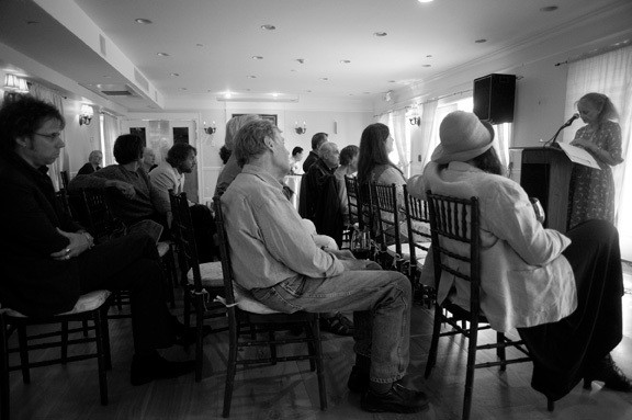 """Nancy Willard, a poet featured in """"River of Words,"""" reads from her work. - JENNIFER MAY"""