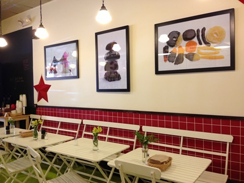 New seating area at Lucky Chocolates