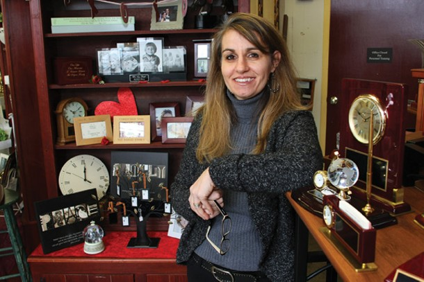 Nicole Repose, co-owner of Etched in Time in Warwick. - ADAM FERNANDEZ