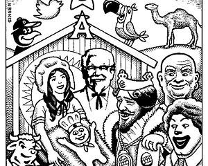 No Exit Cartoon: Merry Christmas