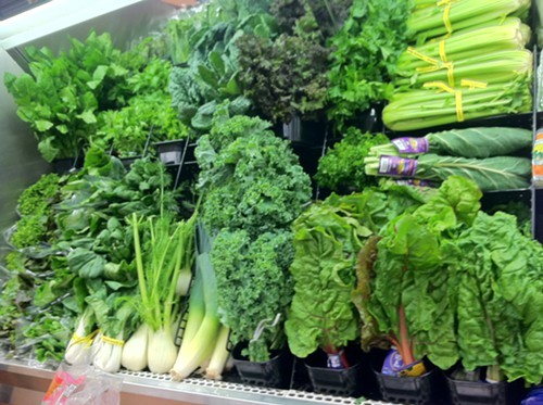 Organic Greens at Mother Earths storehouse in Kingston