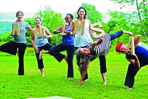 Participants in the 2013 Ahimsa Yoga and Music Festival at Windham Mountain.